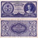 Billet de banque collection Hongrie - PK N° 131 - 1 Milliard Pengo