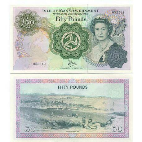Billet de banque collection Ile de man - PK N° 39 - 50 Pound