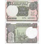 Billet de banque collection Inde - PK N° 108b - 1 Rupee