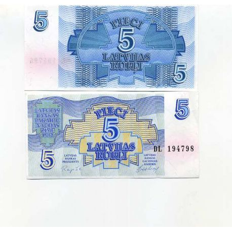 Billet de banque collection Lettonie - PK N° 37 - 5 Rubli