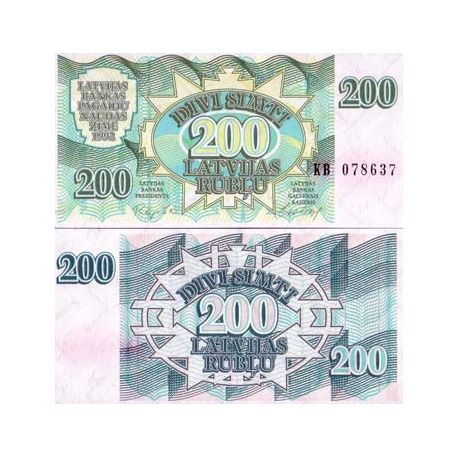 Billet de banque collection Lettonie - PK N° 41 - 200 Rubli