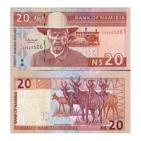 Billets de collection Billet de banque collection Namibie - PK N° 6 - 20 Dollars Billets de Namibie 13,00 €