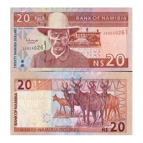 Billet de banque collection Namibie - PK N° 6 - 20 Dollars