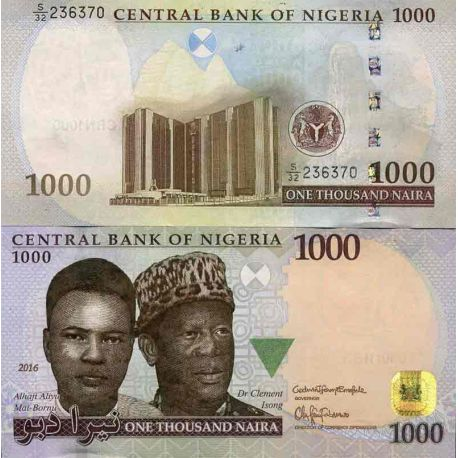 Billets de collection Billet de banque collection Nigeria - PK N° 36 - 1000 Naira Billets du Nigeria 17,00 €