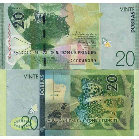 Billets de collection Billet de banque collection Saint Thomas et Prince - PK N° 999 - 20 Dobras Billets de Saint Thomas et P...