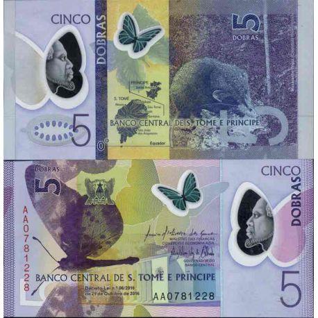 Billet de banque collection Saint Thomas et Prince - PK N° 999 - 5 Dobras