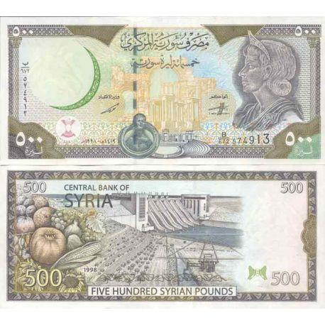 Billet de banque collection Syrie - PK N° 110C - 500 Pounds