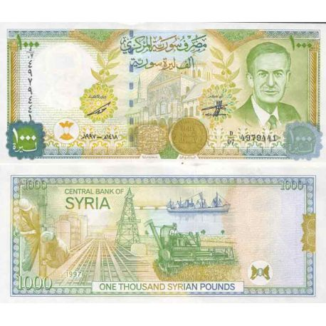 Billet de banque collection Syrie - PK N° 111A - 1000 Pounds