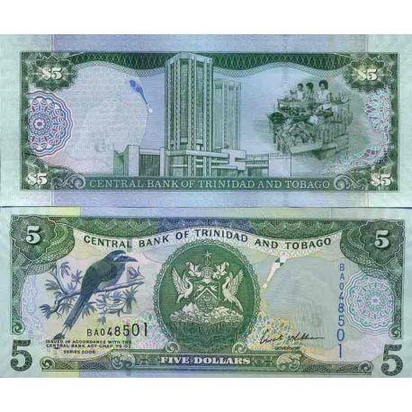 Billet de banque collection Trinite et Tobago - PK N° 999 - 5 Dollars
