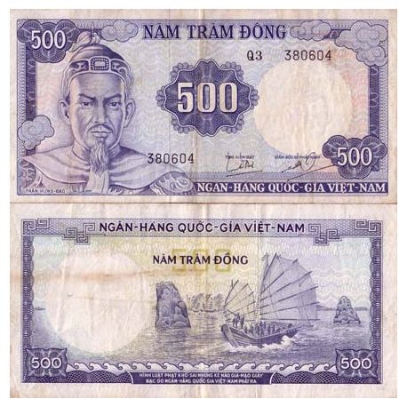 Billets de collection Billet de banque collection Vietnam Sud - PK N° 23 - 500 Dong Billets du Vietnam Sud 29,00 €