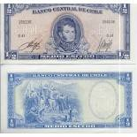 Billet de banque Chili Pk N° 134 - 0,5 Escudo