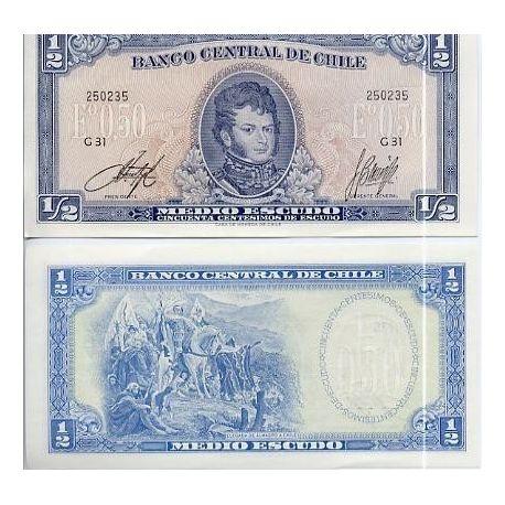Chile - Pk # 134 - Ticket Escudo 0.5