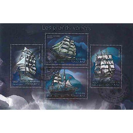 Bloc de 4 timbres Thème Voiliers