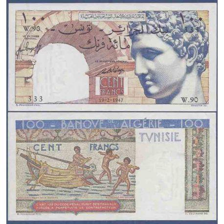 Banknote Sammlung Tunesien - PK Nr. 24 - 100 Franc