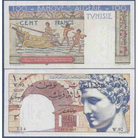 Colección de Túnez del billete de banco - PK N° 24 - 100 francos