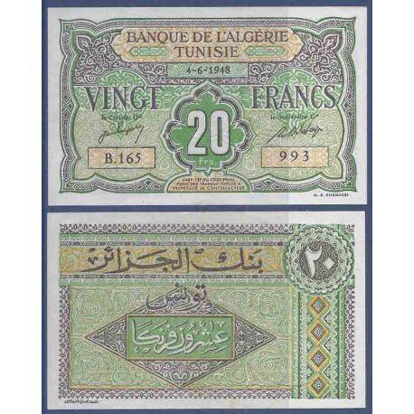Billets de collection Billet de banque collection Tunisie - PK N° 22 - 20 Francs Billets de Tunisie 50,00 €