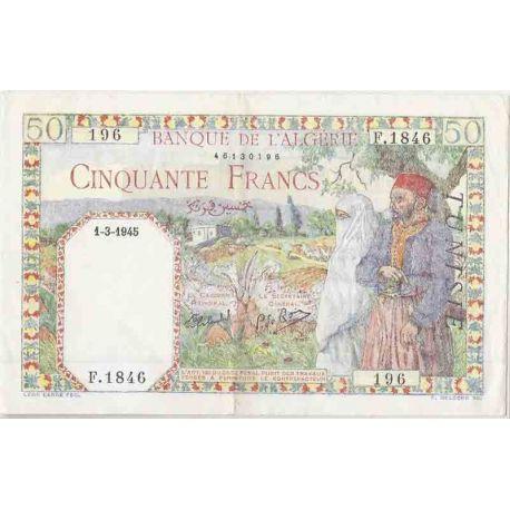 Billets de collection Billet de banque collection Tunisie - PK N° 12 - 50 Francs Billets de Tunisie 100,00 €