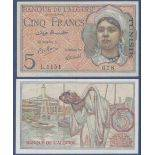 Billet de banque collection Tunisie - PK N° 16 - 5 Francs
