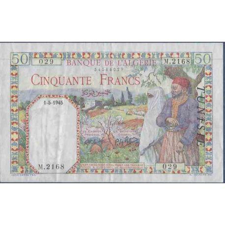 Banconota raccolta di Tunisia - Pk N° 12 - 50 Franco