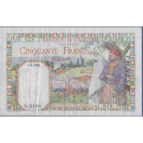 Banknote Tunisia collection - Pk N° 12 - 50 Franc