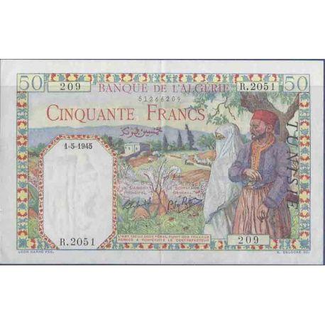 Colección de Túnez del billete de banco - PK N° 12 - 50 francos