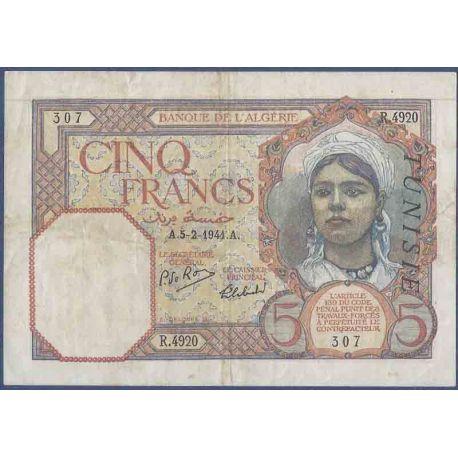 Billets de collection Billet de banque collection Tunisie - PK N° 8 - 5 Francs Billets de Tunisie 10,00 €