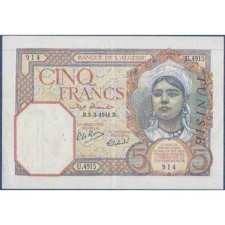 Billets de collection Billet de banque collection Tunisie - PK N° 8 - 5 Francs Billets de Tunisie 40,00 €