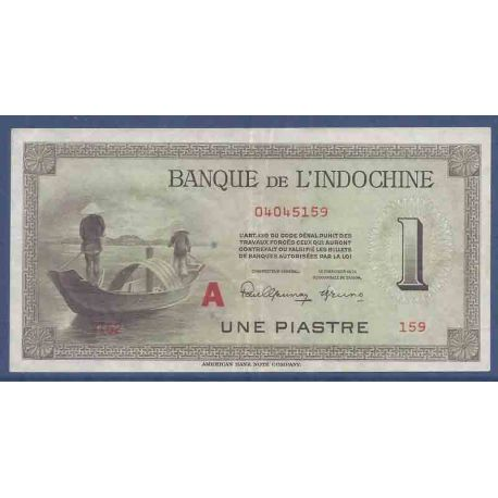 Billet de banque collection Indochine - PK N° 76 - 1 Piastre