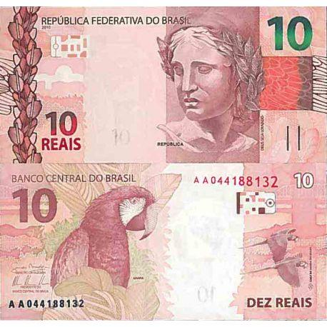 Billet de banque collection Bresil - PK N° 254 - 10 Real