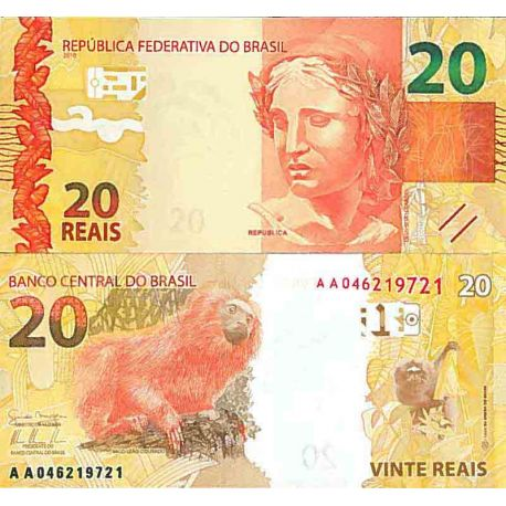 Billet de banque collection Bresil - PK N° 255 - 20 Real