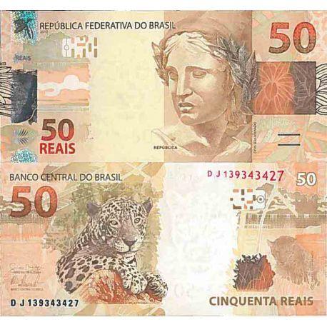 Billet de banque collection Bresil - PK N° 256 - 50 Real