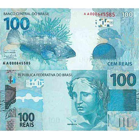 Billet de banque collection Bresil - PK N° 257 - 100 Real