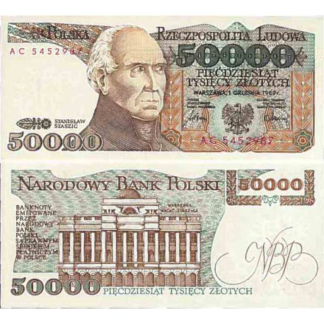 Billet de banque collection Pologne - PK N° 153 - 50000 Zlotych
