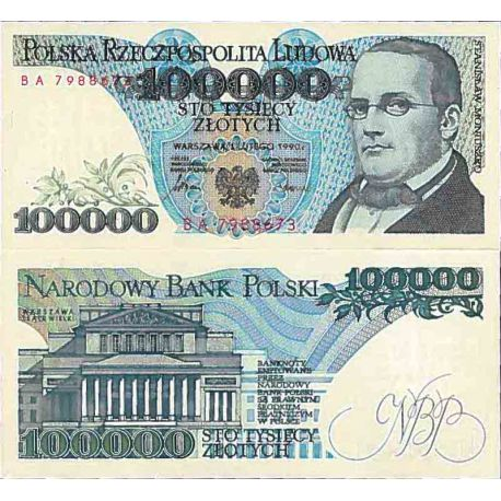 Billet de banque collection Pologne - PK N° 154 - 100000 Zlotych