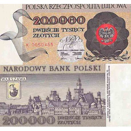 Billet de banque collection Pologne - PK N° 155 - 200000 Zlotych