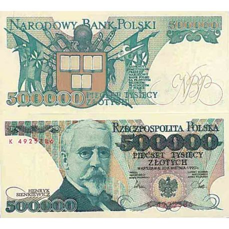 Billet de banque collection Pologne - PK N° 156 - 500000 Zlotych