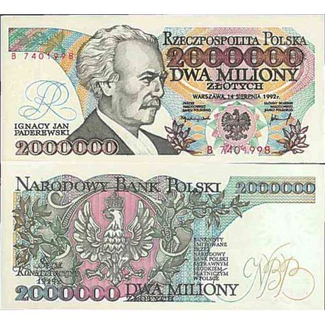 Billet de banque collection Pologne - PK N° 158 - 2000000 Zlotych