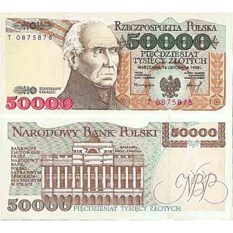Billet de banque collection Pologne - PK N° 159 - 50000 Zlotych
