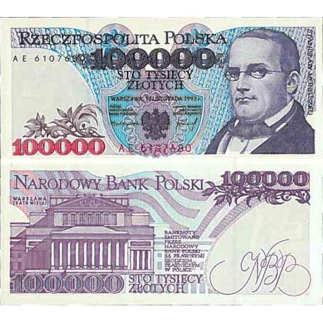 Billet de banque collection Pologne - PK N° 160 - 100000 Zlotych