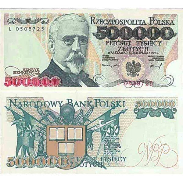 Billet de banque collection Pologne - PK N° 161 - 500000 Zlotych - La Maison du Collectionneur