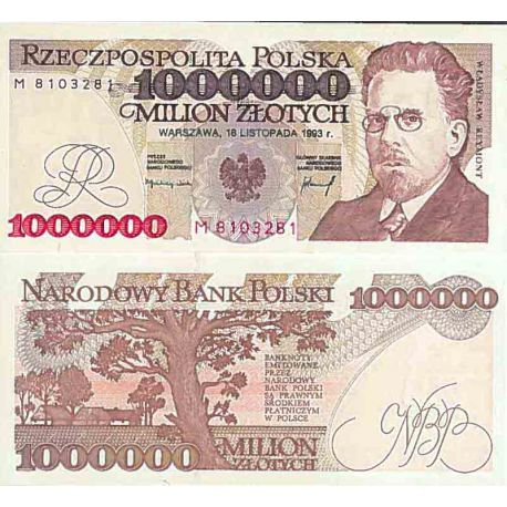 Billet de banque collection Pologne - PK N° 162 - 1000000 Zlotych