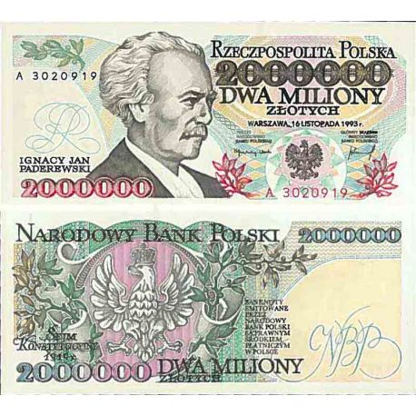 Billet de banque collection Pologne - PK N° 163 - 2000000 Zlotych