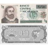 Billet de banque collection Nicaragua - PK N° 172 - 1/2 Cordoba