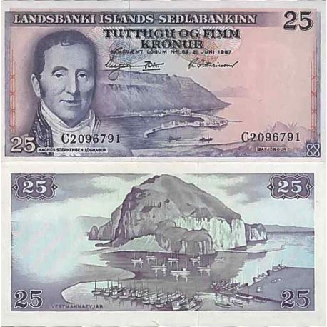 Biglietto di banca raccolta Islanda - PK N° 39 - 25 Kronur