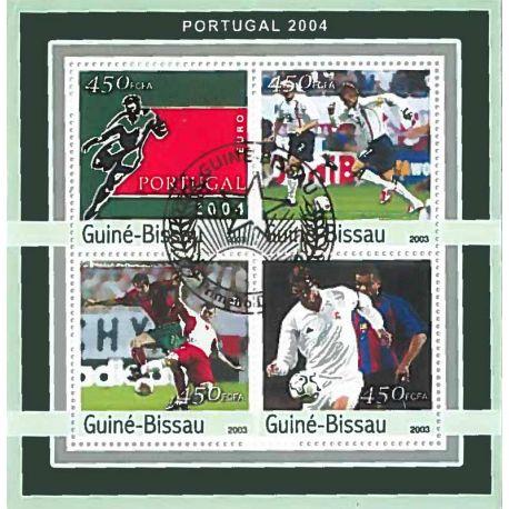 Bloc de 4 timbres Thème Football