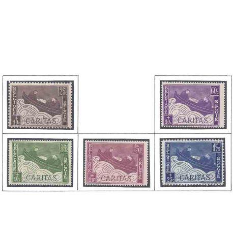 Timbre collection Belgique N° Yvert et Tellier 249/253 Neuf avec charnière