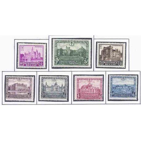 Sello colección Bélgica N° Yvert y Tellier 308/314 Nueve con bisagra