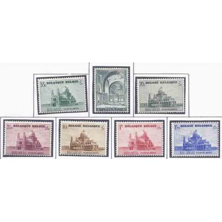 Sello colección Bélgica N° Yvert y Tellier 471/477 Nueve con bisagra