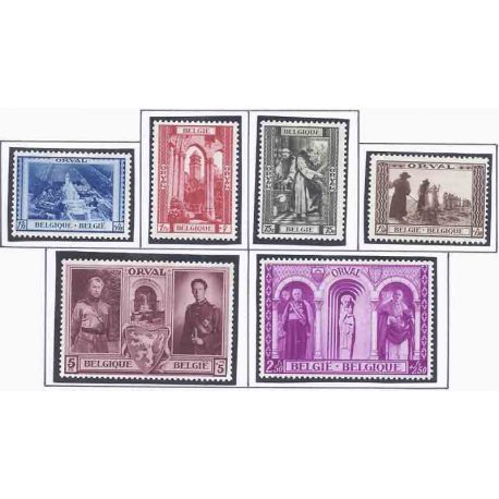 Timbre collection Belgique N° Yvert et Tellier 513/518 Neuf avec charnière