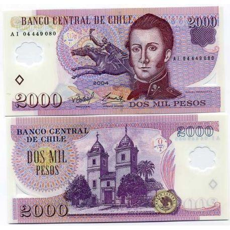 Billet de collection Chili Pk N° 160 - 2000 Pesos
